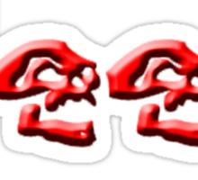 JEEP SKULLS Red Sticker