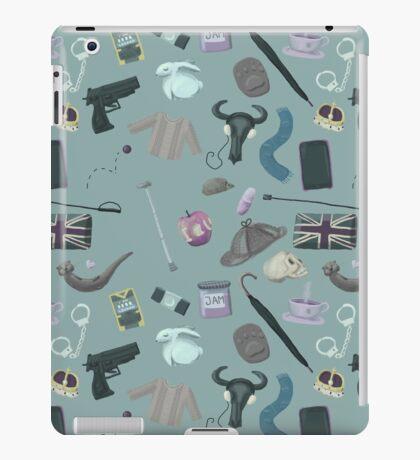 Sherlock Themed Pattern iPad Case/Skin