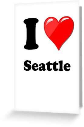 I Heart / Love Seattle by HighDesign