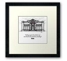 Architecture Elevation Framed Print
