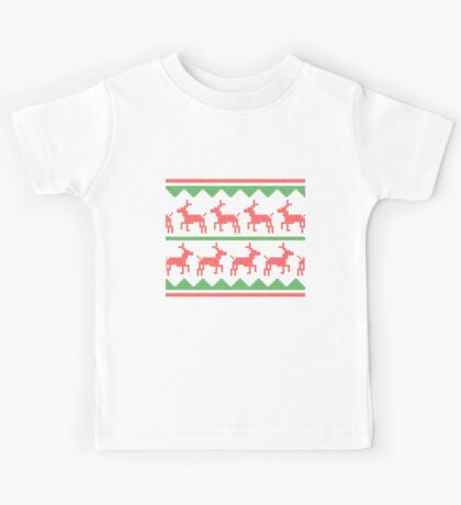 Christmas Sweater (Red and Green) Kids Tee