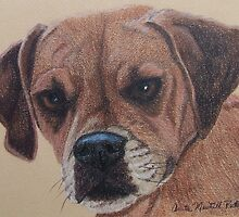 Lucy-Puggle Commission by Anita Meistrell Putman