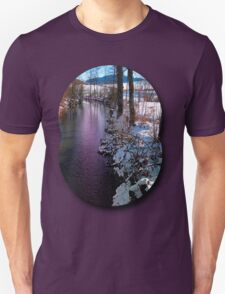 Quiet river in winter time T-Shirt