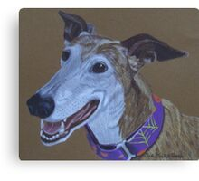 Ruby-Greyhound Commission Canvas Print