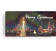 Merry Christmas Print Canvas Print