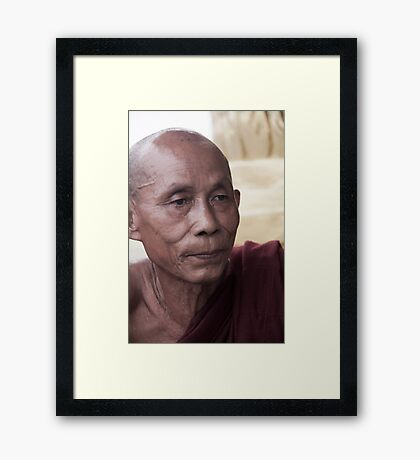 Hpa-An: Monk Framed Print