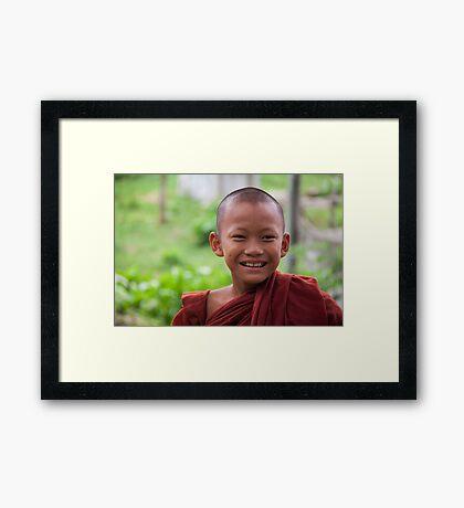 Hpa-An: Novice Monk Framed Print