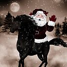 Cowboy Christmas Card by Doreen Erhardt