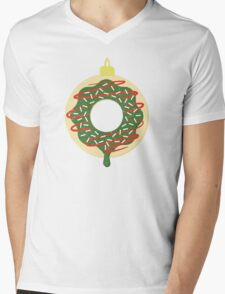 Christmas Doughnut Mens V-Neck T-Shirt
