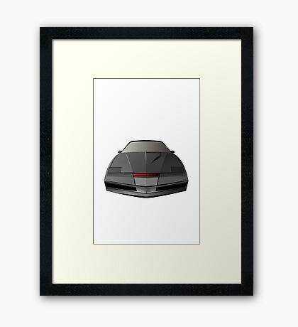 Knight Rider KITT Car  Framed Print