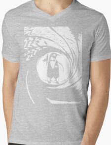 Double Oh Penguin Mens V-Neck T-Shirt