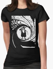 Double Oh Penguin Womens Fitted T-Shirt