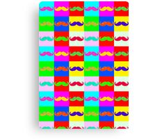 Mustache by Warhol Canvas Print