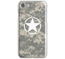 Digital Camo Army Invasion Star iPhone Case/Skin