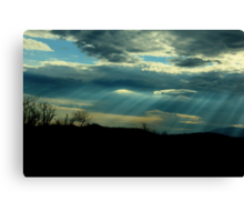 Between The Dark and The Light Canvas Print