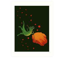 YOLO Dinosaur Lassoes an Asteroid Art Print