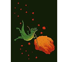 YOLO Dinosaur Lassoes an Asteroid Photographic Print