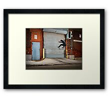 Marty Murawski - Frontside Flip - Chicago - Photo Bart Jones Framed Print