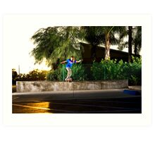 Neen Williams - Backside Tailslide - Santa Ana, CA - Photo Bart Jones Art Print