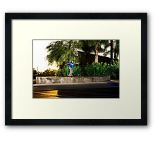 Neen Williams - Backside Tailslide - Santa Ana, CA - Photo Bart Jones Framed Print