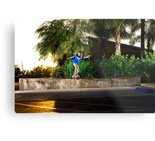 Neen Williams - Backside Tailslide - Santa Ana, CA - Photo Bart Jones Metal Print