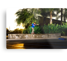 Neen Williams - Backside Tailslide - Santa Ana, CA - Photo Bart Jones Metal Print