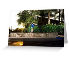 Neen Williams - Backside Tailslide - Santa Ana, CA - Photo Bart Jones Greeting Card