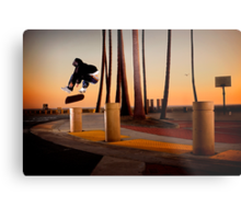 Pat Pasquale - Frontside Heelflip - Huntington Beach, CA - Photo Bart Jones Metal Print