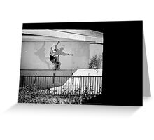 Patrick Melcher - Bluntslide to Fakie - Sacramento - Photo Bart Jones Greeting Card