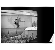Patrick Melcher - Bluntslide to Fakie - Sacramento - Photo Bart Jones Poster