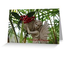 Garden Fairy: Holiday Greetings Greeting Card