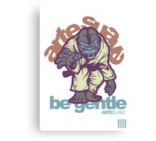 Be Gentle - Jiu Jitsu Gorilla Canvas Print