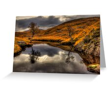 The Pool Of Autumn Greeting Card