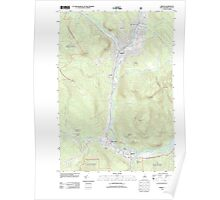 USGS TOPO Map New Hampshire NH Berlin 20120615 TM Poster