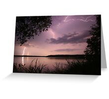 Lightning over the Lake Greeting Card