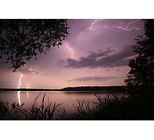 Lightning over the Lake Photographic Print