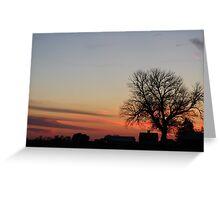 Farmstead Sunset Greeting Card