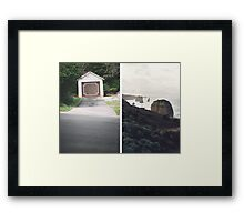 Brown Diptych Framed Print