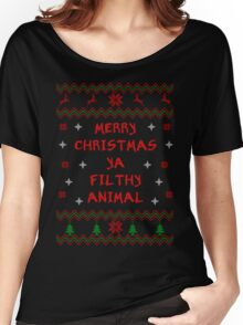 Merry Christmas ya Filthy Animal - Bold Font Women's Relaxed Fit T-Shirt