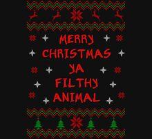 Merry Christmas ya Filthy Animal - Bold Font Unisex T-Shirt