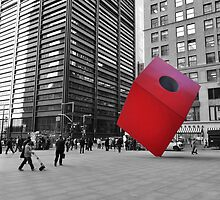Red Cube by Haz Preena