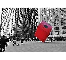 Red Cube Photographic Print