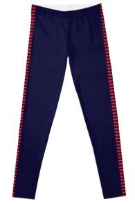 Corellian Blood-stripe - Red on Blue (Han Solo) Leggings