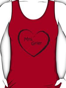 Mrs. Grier - Black Love heart T-Shirt
