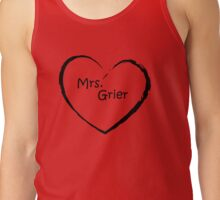 Mrs. Grier - Black Love heart Tank Top
