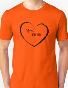 Mrs. Grier - Black Love heart T-Shirt