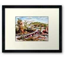 Low Water Bridge on Stout's Creek Framed Print