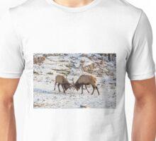 Elk in a fight Unisex T-Shirt