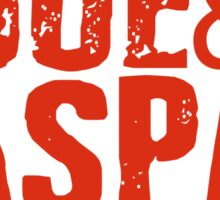 Joe & Caspar Hit The Road Sticker