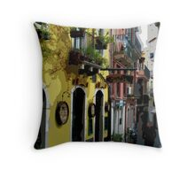 Sicily - Taomina street scene Throw Pillow